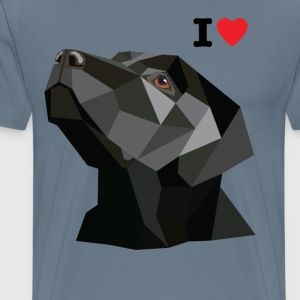 I Love My Black Lab T-Shirt - Men's Premium T-Shirt