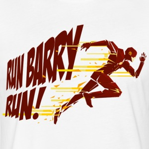 Run Barry Run T-Shirts - Fitted Cotton/Poly T-Shirt by Next Level