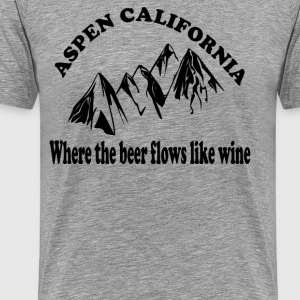 Dumb And Dumber Quote - Aspen California.... - Men's Premium T-Shirt