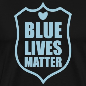 Blue Lives Matter - Shield T-Shirts - Men's Premium T-Shirt