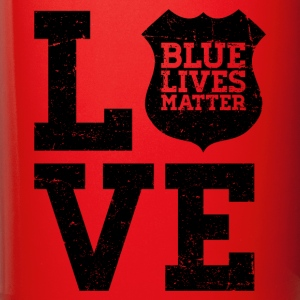 Blue Lives Matter - Love (Black) Mugs & Drinkware - Full Color Mug