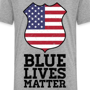 Blue Lives Matter - Color Flag Shield Kids' Shirts - Kids' Premium T-Shirt