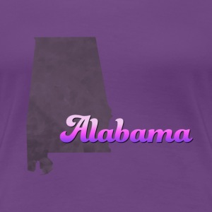 Alabama Map USA violet - Women's Premium T-Shirt