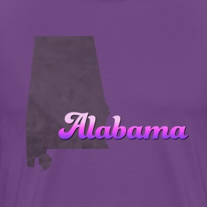 Alabama Map USA violet - Men's Premium T-Shirt