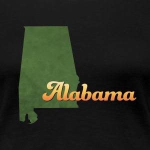 Alabama Map USA green - Women's Premium T-Shirt