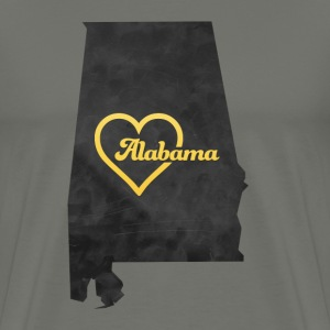 Alabama Map USA black - Men's Premium T-Shirt