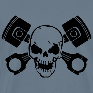 Skull with engine pistons Shirt - Men's Premium T-Shirt
