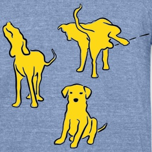 3dogs T-Shirts - Unisex Tri-Blend T-Shirt by American Apparel