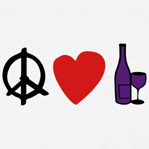 Peace Love & Wine Women's Tee - Women's T-Shirt