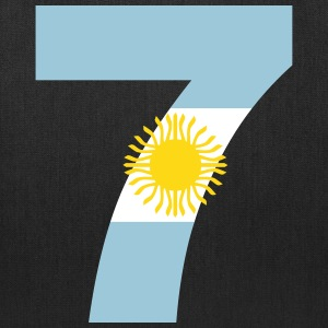 Argentinia Numbers, 7, Jersey Numbers Argentinia Bags & backpacks - Tote Bag