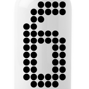 6, Numbers, Football Numbers, Jersey Numbers Sportswear - Water Bottle