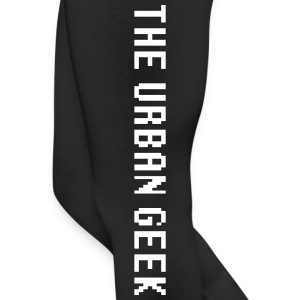 The Urban Geek White x Black - Leggings by American Apparel