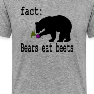 The Office Quote - Bears Eat Beets - Men's Premium T-Shirt