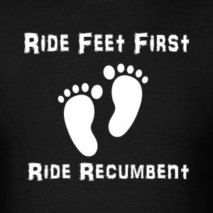 Feet First T-shirt (Mens White Ink) - Men's T-Shirt