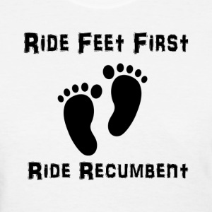 Feet First T-shirt (Womens Black Ink) - Women's T-Shirt
