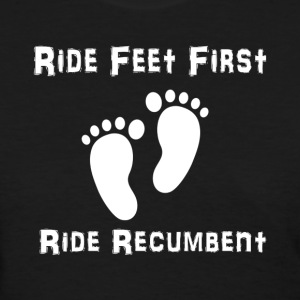 Feet First T-shirt (Womens White Ink) - Women's T-Shirt