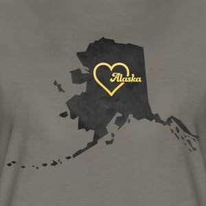 Alaska Map USA black - Women's Premium T-Shirt