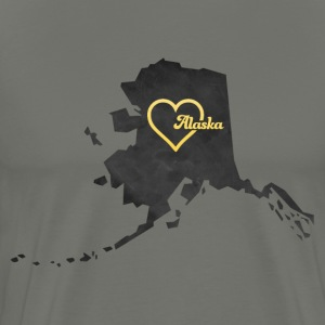 Alaska Map USA black - Men's Premium T-Shirt