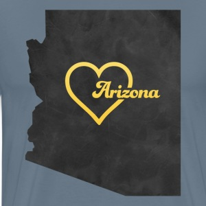 Arizona Map USA black - Men's Premium T-Shirt