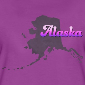Alaska Map USA violet - Women's Premium T-Shirt