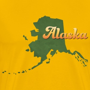 Alaska Map USA green - Men's Premium T-Shirt