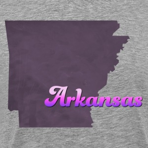 Arkansas Map USA violet - Men's Premium T-Shirt