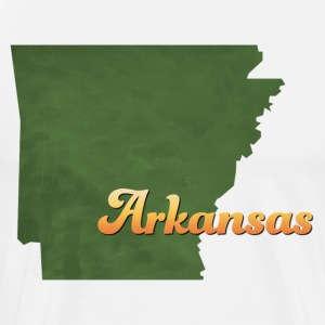 Arkansas Map USA green - Men's Premium T-Shirt