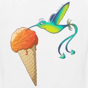Summer Hummingbird Eating Ice Cream Sportswear - Men's Premium Tank