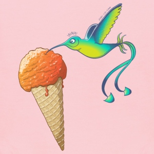 Summer Hummingbird Eating Ice Cream Sweatshirts - Kids' Hoodie