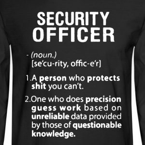 Security Officer - Men's Long Sleeve T-Shirt