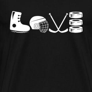 Love Hockey Mom Shirt - Men's Premium T-Shirt