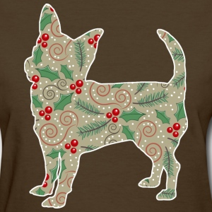 Christmas Holly Chihuahua - Women's T-Shirt