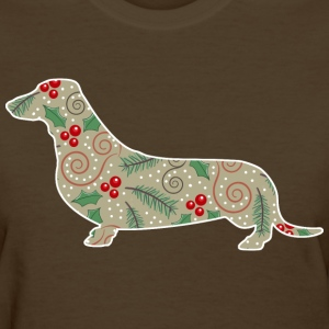 Christmas Holly Dachshund T-Shirts - Women's T-Shirt