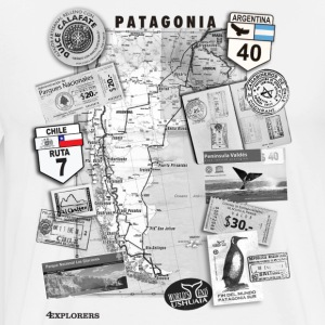 Patagonia Road Trip Map - Men's Premium T-Shirt