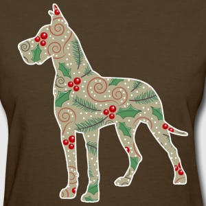 Christmas Greens Great Dane T-Shirts - Women's T-Shirt