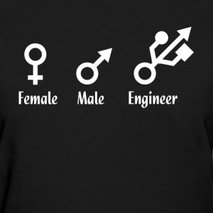 Male Female Engineer USB Port GEEK FUNNY T-Shirts - Women's T-Shirt