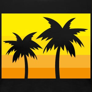 Summer palms - Women's Premium T-Shirt