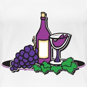 Red Wine and Grapes - Women's Premium T-Shirt