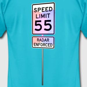 55 MPH Speed Limit with flashing police lights T-Shirts - Men's T-Shirt by American Apparel