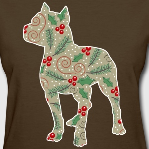 Christmas Holly Pitbull T-Shirts - Women's T-Shirt