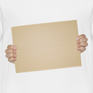Hands Holding Blank Cardboard Sign - Toddler Premium T-Shirt