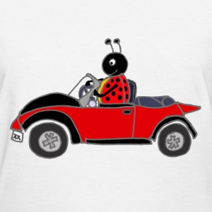 Ladybug Driving Red Car T-Shirts - Women's T-Shirt