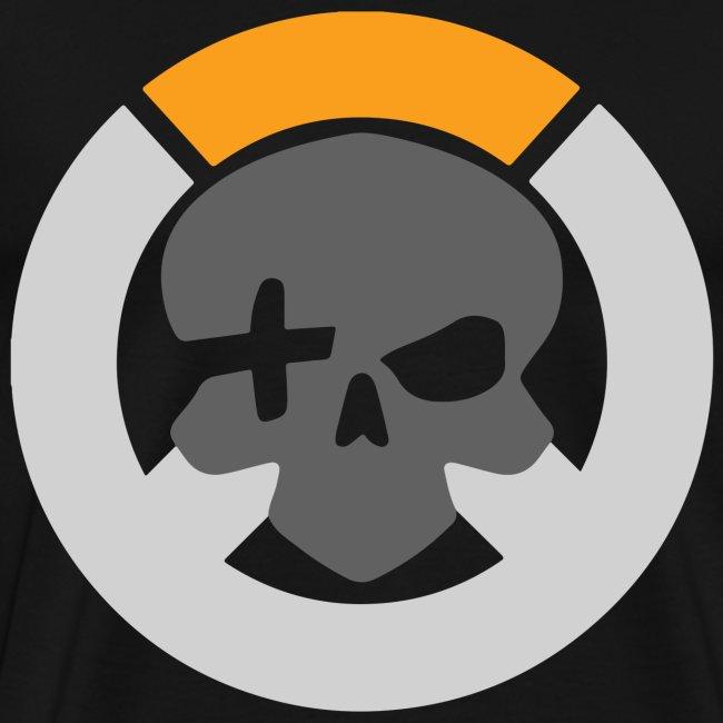 Black Inverted Logo Mens Tee