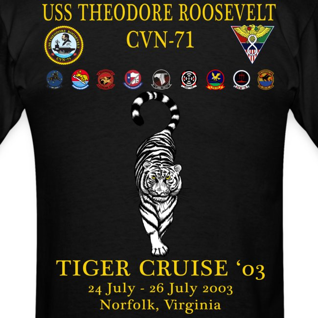 USS THEODORE ROOSEVELT 2003 TIGER CRUISE SHIRT - TIGER