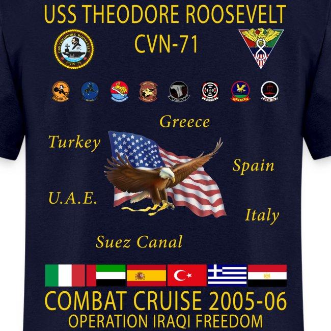 USS THEODORE ROOSEVELT 2005-06 CRUISE SHIRT