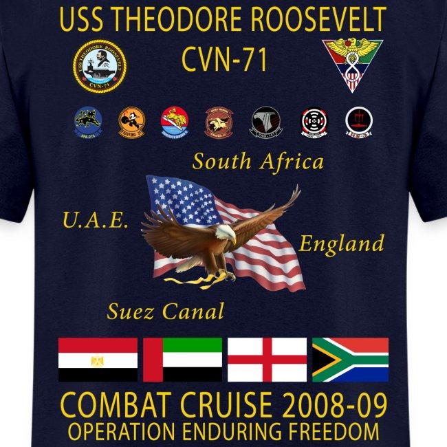 USS THEODORE ROOSEVELT 2008-09 CRUISE SHIRT