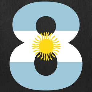 Argentinia Numbers, 8, Jersey Numbers Argentinia Bags & backpacks - Tote Bag