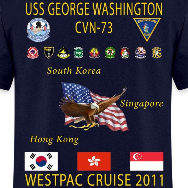 USS GEORGE WASHINGTON 2011 CRUISE SHIRT