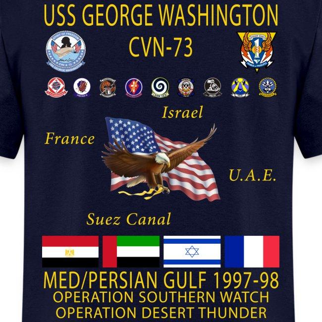 USS GEORGE WASHINGTON 1997-98 CRUISE SHIRT