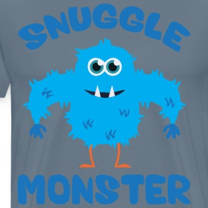 Snuggle Monster (Blue) T-Shirts - Men's Premium T-Shirt